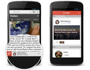 Google plus Content Recommendations for mobile sites